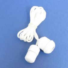 White Acorn and Cord Connector Set (CC/CAW)